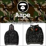 Jacket Hoodie Aape Bape SHARK Camo GRAY-BLACK -ระบุสี/ไซต์-