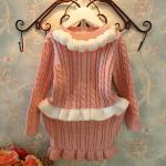ชุดเซท เสื้อ+กระโปรง สีชมพู แพ็ค5ชุด ไซส์ 5-7-9-11-13