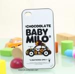 iPhone 4, 4S - เคส Face Idea ลายลิงรถ BABYMILO