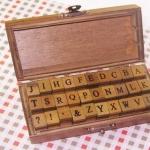 Pre order Antique Alphabet Stamp Set Ver.2 30 ชิ้น