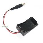 รางถ่าน 9V พร้อม Jack 5.5x2.5mm สำหรับ Arduino