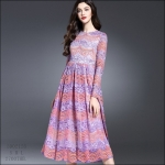 59020128 / S M L / 2016 Lace dress พรีออเดอร์ งานคัตติ้งยุโรป คุณภาพดีสมราคา สวยคอนเฟริ์ม