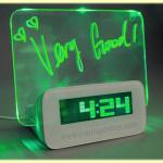 นาฬิกากระดานข้อความ Fluorescent เรืองแสง USB Hub 4 Port สีเขียว