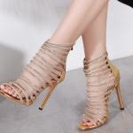 รองเท้าส้นสูงสีทองสวยหรู ไซต์ 35-42