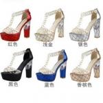 รองเท้าส้นสูง ไซต์ 34-39 สีดำ สีแดง สีเงิน สีทอง สีชมพูอ่อน สีน้ำเงิน