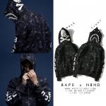 Jacket Hoodie BAPE x NBHD Camo SHARK Full-Zip -ระบุไซต์-
