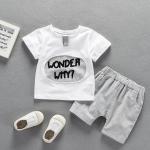 เสื้อ+กางเกง สีขาว แพ็ค 5 ชุด ไซส์ 80-90-100-110-120