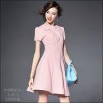 M5805151 / S M L / 2015 Hiend Design Fashion dress พรีออเดอร์เดรสแฟชั่นงานเกรดยุโรป สวยดูดีมีสไตล์ นางแบบใส่ชุดจริง เป๊ะเว่อร์!