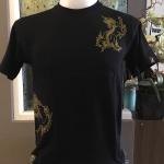 เสื้อสกรีนลายไทย ลายสิงโตจีน (สีดำ)