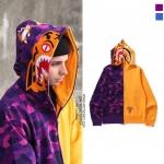 Jacket hoodie A BATHING APE® TIGER SHARK Color camo (Y-P) -ระบุไซต์-