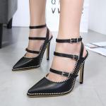 รองเท้าส้นสูงสีดำไซต์ 35-40