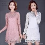 5902090 / M L XL XXL / 2016 Lace dress พรีออเดอร์ งานคัตติ้งยุโรป คุณภาพดีสมราคา สวยคอนเฟริ์ม