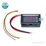 Digital Voltage and Current Meter DC0-100V 10A LED DC Dual Display ดิจิตอลโวลต์-แอมป์มิเตอร์ DC 0-100V 10A