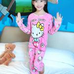 เสื้อ+กางเกง แขนยาว สีชมพู แพ็ค 5 ชุด ไซส์ 8-10-12-14-16