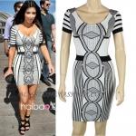 HV099 / Preorder Herve Legr Dress Style พรีออเดอร์เดรสไตล์ Hervr Leger เดรสผ้ายืด ใส่สวยเน้นรูปร่าง