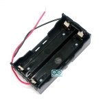18650 battery box holder 3.7V with cable รางถ่าน 18650 ต่อแบบขนาน ขนาด 2 ก้อนพร้อมสายไฟ
