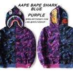 Jacket Hoodie Aape Bape SHARK BLUE-PURPLE -ระบุไซต์-