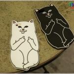 iPhone 6 Plus, 6s Plus - เคสซิลิโคน ลายแมวสุดกวน