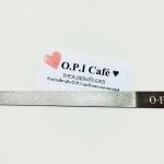 ตะไบเล็บ OPI ทำจากสแตนเลสอย่างดี มีความคงทน ยาวประมาณ 16 ซม.