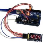 การใช้งาน โมดูลแสดงค่าตัวเลข 4 หลัก Four digital tube module LED display