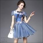 M5805153 / S M L / 2015 Hiend Design Fashion dress พรีออเดอร์เดรสแฟชั่นงานเกรดยุโรป สวยดูดีมีสไตล์ นางแบบใส่ชุดจริง เป๊ะเว่อร์!