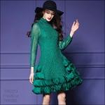 5902253 / Free size / 2016 Dress Fashion พรีออเดอร์ งานสวยมีสไตล์ คุณภาพดีสมราคา