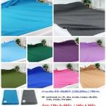 ผ้าห่มฟลีซ สีพื้น 60x80นิ้ว (150x200ซม) 790กรัม ผืนละ 140 บาท ส่ง 60ผืน