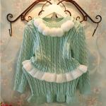 ชุดเซท เสื้อ+กระโปรง สีเขียว แพ็ค 5ชุด ไซส์ 5-7-9-11-13