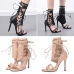 รองเท้าส้นสูง ไซต์ 34-40 สีดำ/ครีม