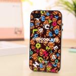 iPhone 4, 4S - เคส Face Idea ลาย ลิงเยอะๆ CHOCOOLATE