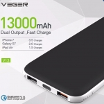 VEGER V13 แบตสำรอง ระบบชาร์จไว 13,000mAh QC 3.0 แท้