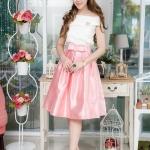 *** Size S*** (Set เสื้อ + กระโปรง) พร้อมส่ง กระโปรงออกงานสีชมพู กระโปรงไปงานแต่งงาน กระโปรงวนิดา กระโปรง Vintage กระโปรงผ้าไหม ตัวนี้ดูหราหรามากๆ Mix & Match กับเสื้อได้หลาย Style ใส่ได้ทุกโอนกาส สวยน่ารักมากๆๆ คะ