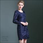 5902108 / M L XL XXL/ 2016 Lace dress พรีออเดอร์ งานคัตติ้งยุโรป คุณภาพดีสมราคา สวยคอนเฟริ์ม