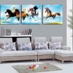 ภาพม้าแปดตัววิ่งผ่าน้ำ 1ชุดได้ 3ภาพ arthome03
