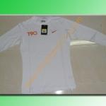 เสื้อฟิต nike T90 สีขาว สกรีนส้ม