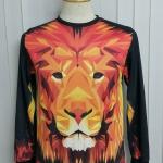 เสื้อ Apizode : เสื้อยืดพิมพ์ลาย คอกลมแขนยาว ลายหน้าเสือ