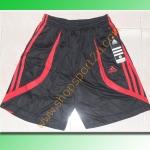 กางเกงกีฬา adidas สีดำ-แดง