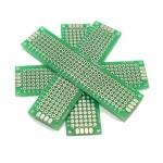 แผ่นปริ๊นอเนกประสงค์ Prototype PCB Board 2x8 cm สีเขียว สองด้าน