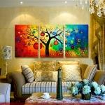 ภาพต้นแอปเปิ้ล แวนโก๊ะสไตล์ Art-kq