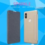 Xiaomi Mi Mix 2s - เคสฝาพับ Nillkin Sparkle leather case แท้