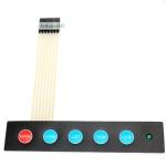 Membrane Switch Keypad Matrix 5 Key พร้อม LED