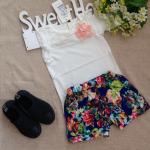 เสื้อ+กางเกง สีขาว แพ็ค 5 ตัว ไซส์ 7-9-11-13-15