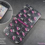 Kitty หลายตัว พื้นดำ (TPU) - iPhone 4, 4s