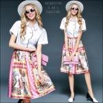 M5805190 / S M L / 2015 Hiend Design Fashion dress พรีออเดอร์เดรสแฟชั่นงานเกรดยุโรป สวยดูดีมีสไตล์ นางแบบใส่ชุดจริง เป๊ะเว่อร์!
