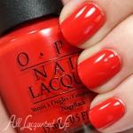 OPI Race Red โทนสีส้มอมแดง แสนร้อนแรงตามดีไซน์รถสปอร์ตสุดหรู