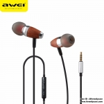 Awei ES-60TY หูฟังลายไม้ Enjoy Original Sound (สวย เสียงสมจริง ฟังสบาย) แท้