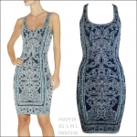HV0918 / Preorder Herve Leger Dress Style พรีออเดอร์เดรสไตล์ Hervr Leger เดรสผ้ายืด ใส่สวยเน้นรูปร่าง แบบเก๋ทันสมัย สไตล์ดาราและเซเลบกำลัง HOT HIT