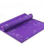 เสื่อโยคะ PVC ( พิมพ์ลาย ) ขนาด 6 mm. แถมกระเป๋า+สายรัด