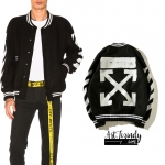 Jacket OFF-WHITE Diag Brushed Varsity 17ss -ระบุไซต์-