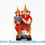 ของขวัญที่ระลึก ตุ๊กตาชุดไทย แบบรำไทยคู่พระนาง (แพ็คคู่)